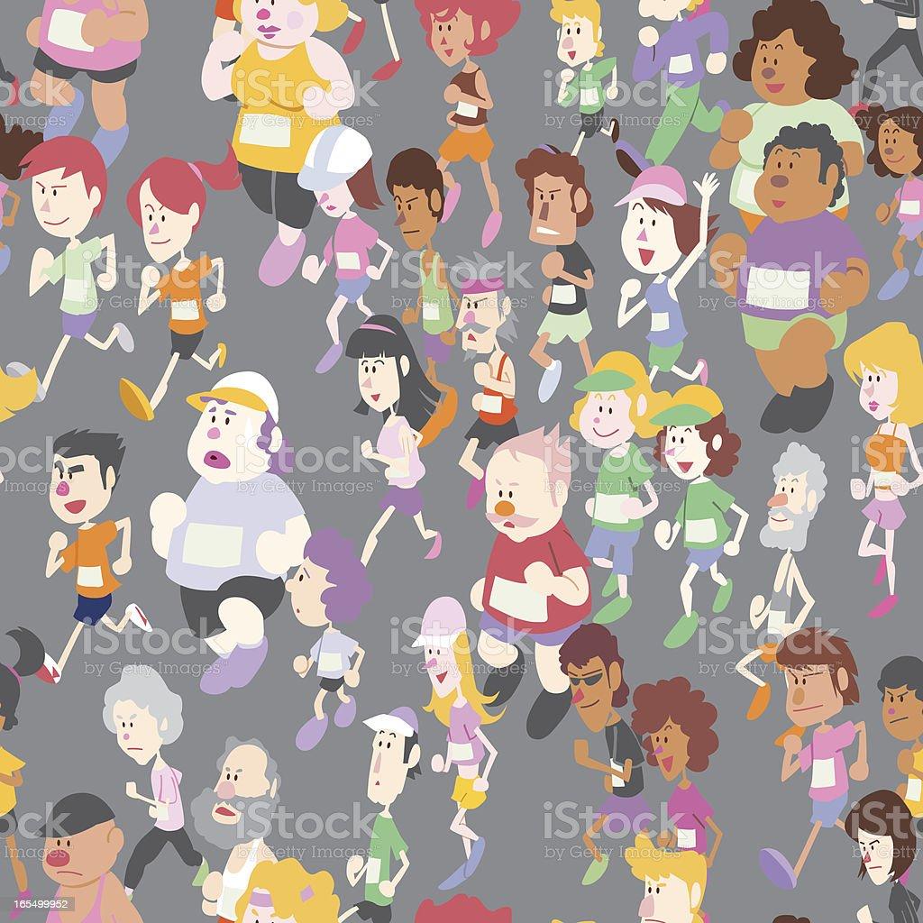 Seamless marathon race wall paper royalty-free stock vector art