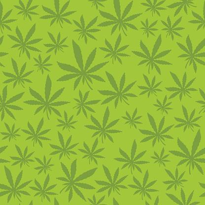 Seamless Marijuana Leaf