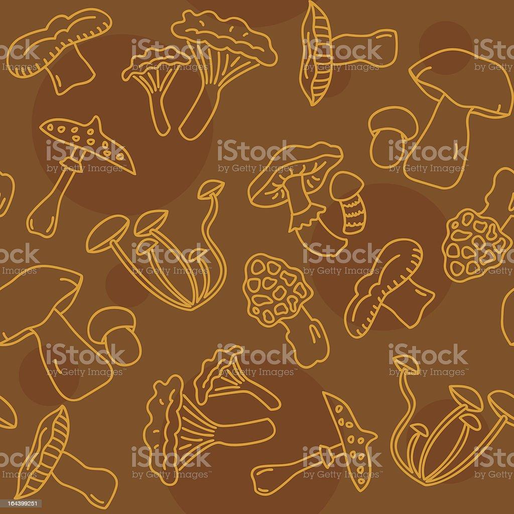 Seamless Mushroom Pattern royalty-free stock vector art