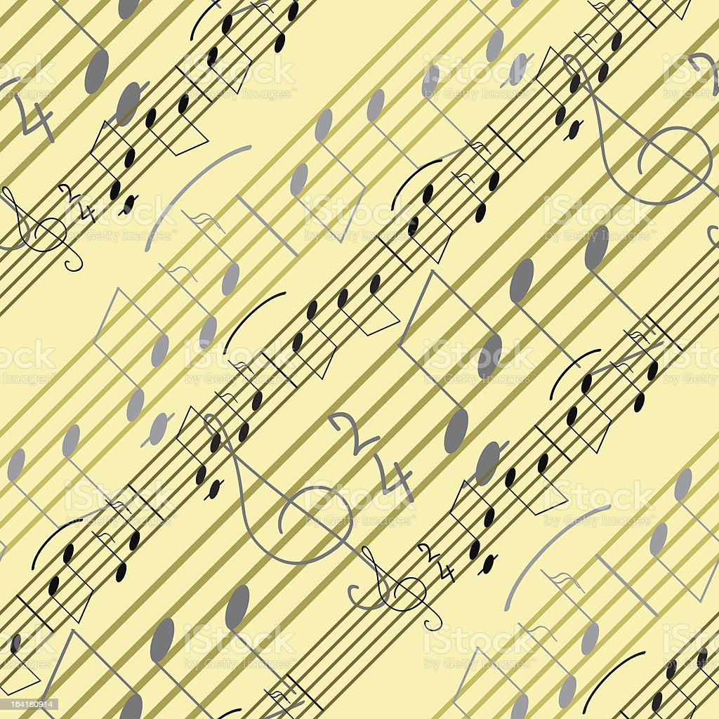 Seamless music wallpaper royalty-free stock vector art