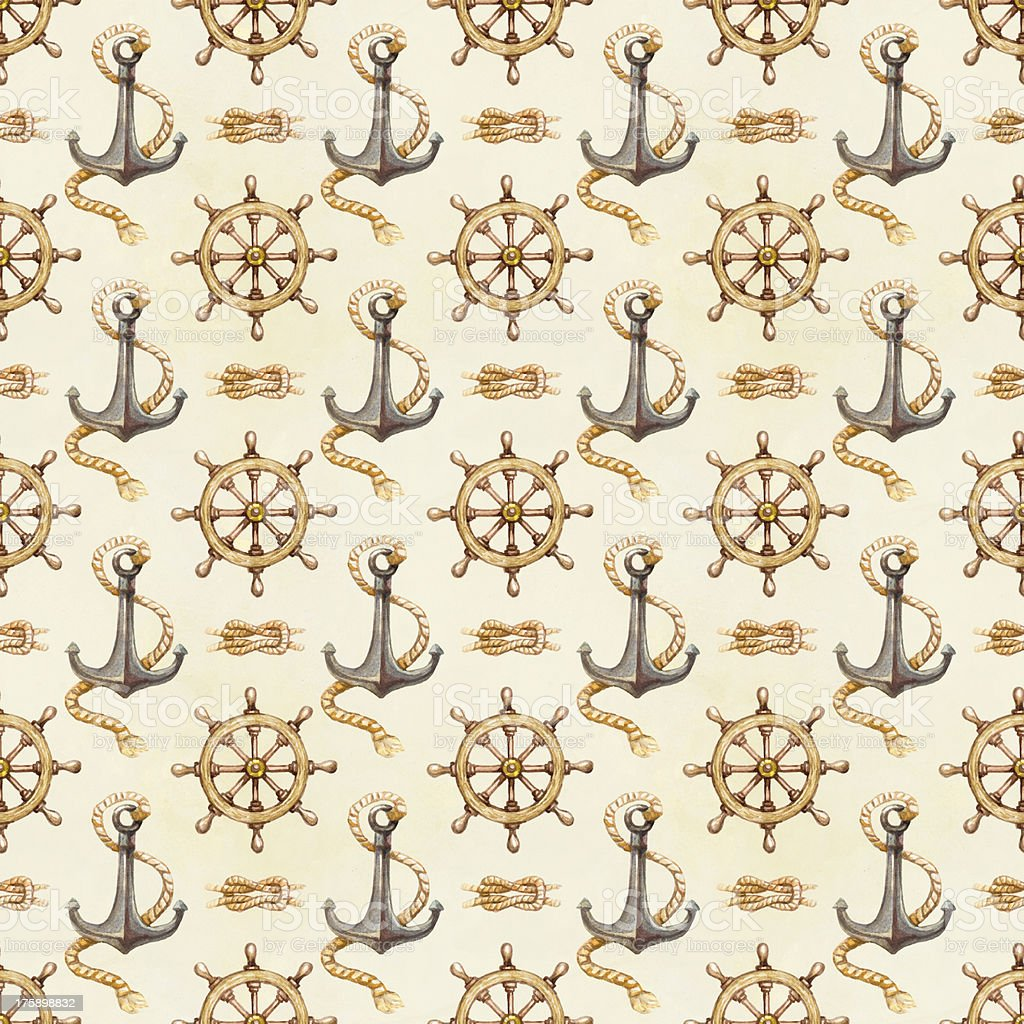 Seamless nautical pattern royalty-free seamless nautical pattern stock vector art & more images of anchor - vessel part