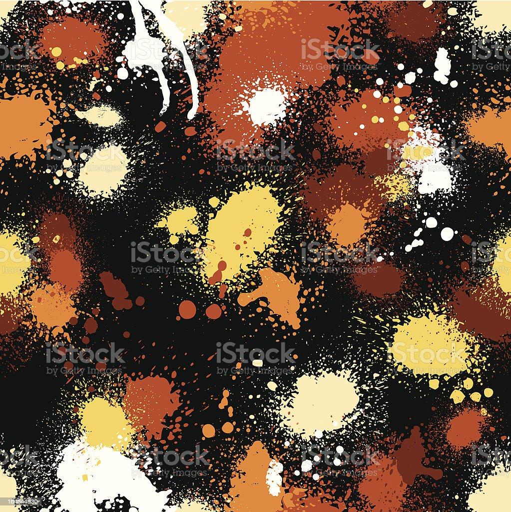 Seamless Paint Splatter royalty-free stock vector art