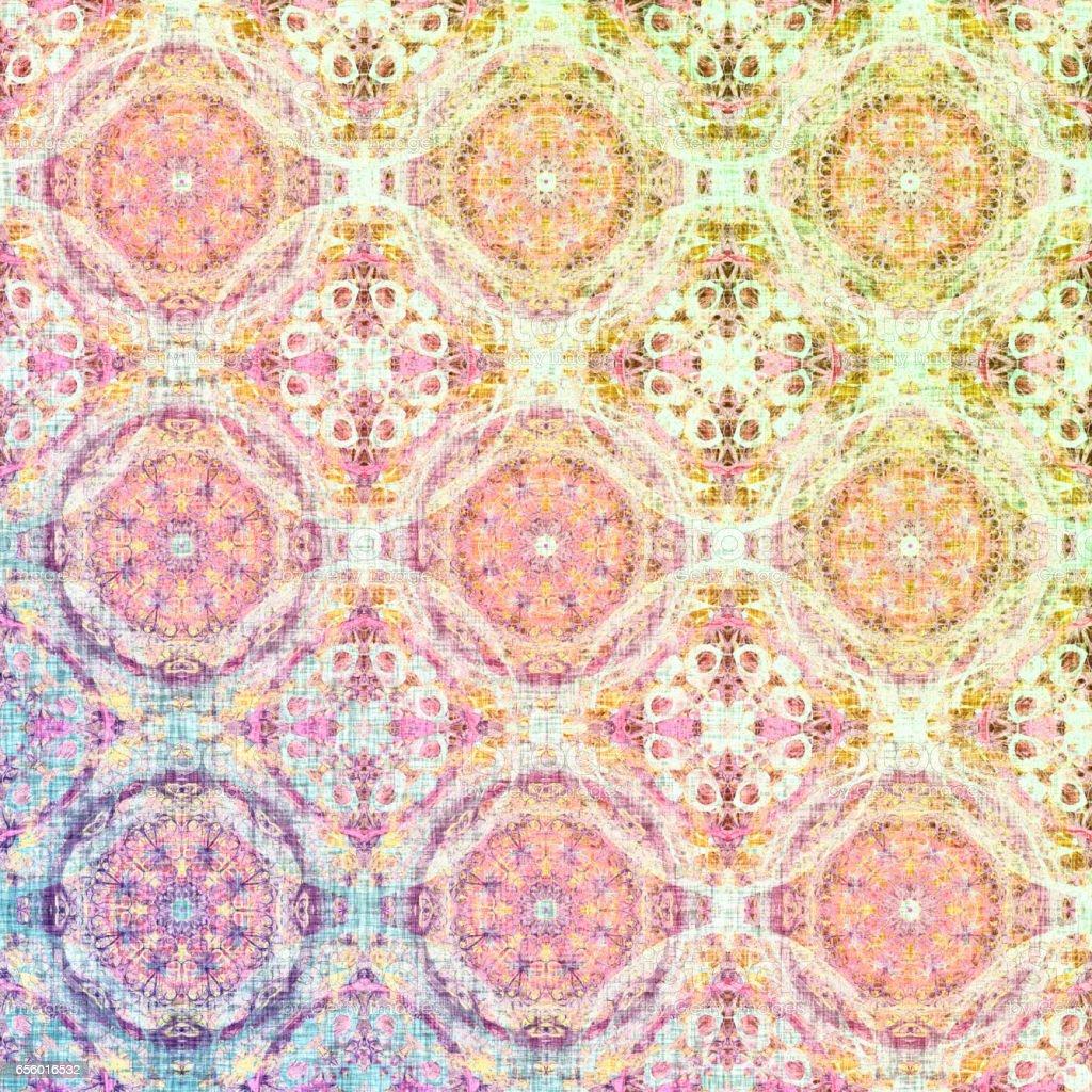 Seamless pastel boho pattern vector art illustration