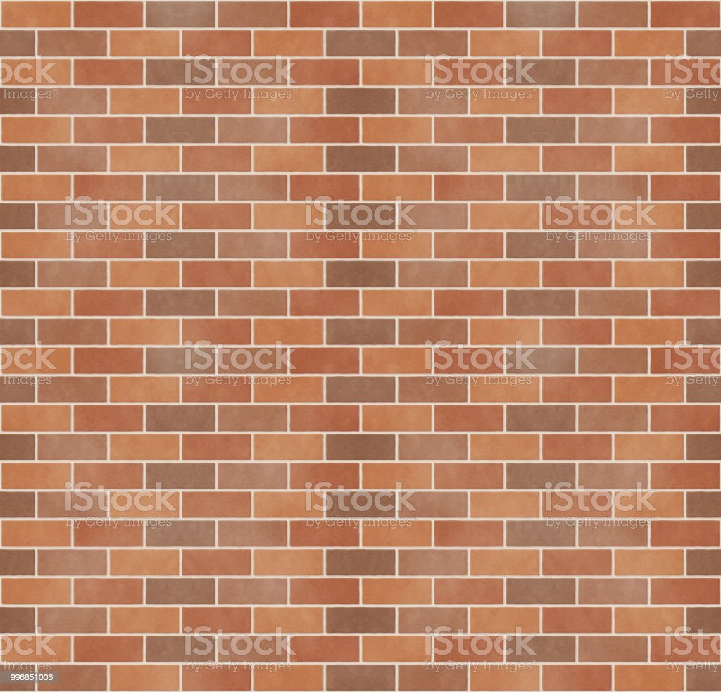 Seamless pattern of bricks vector art illustration