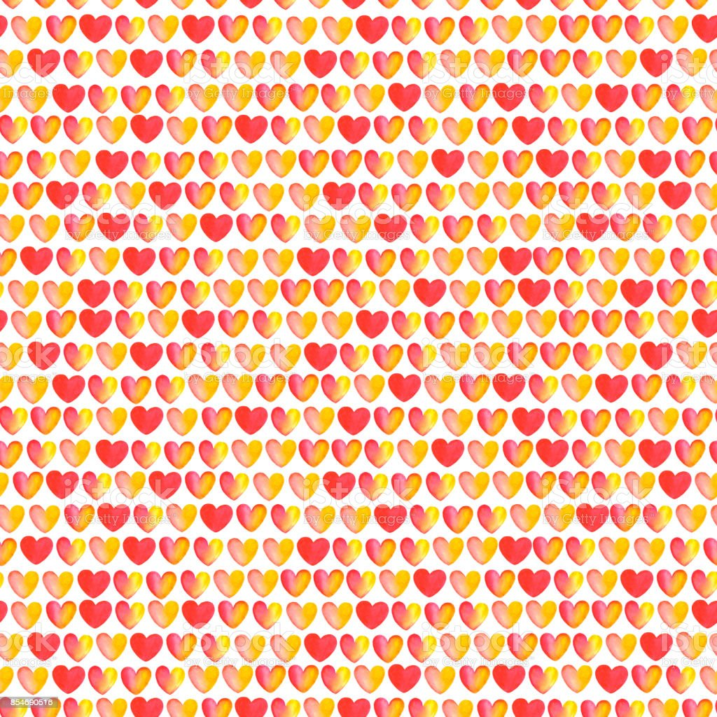 seamless pattern of hearts vector art illustration