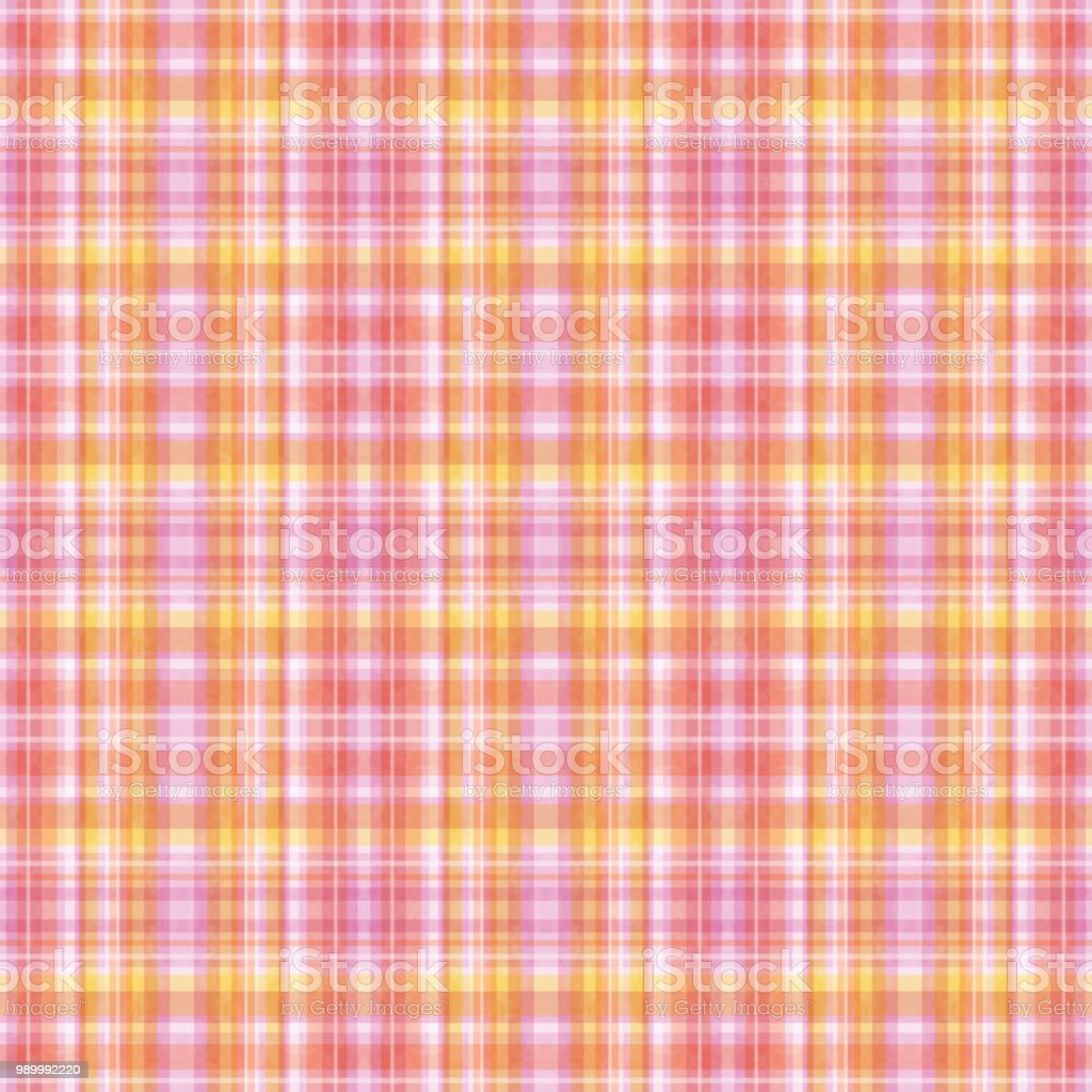 Seamless pattern of madras check vector art illustration