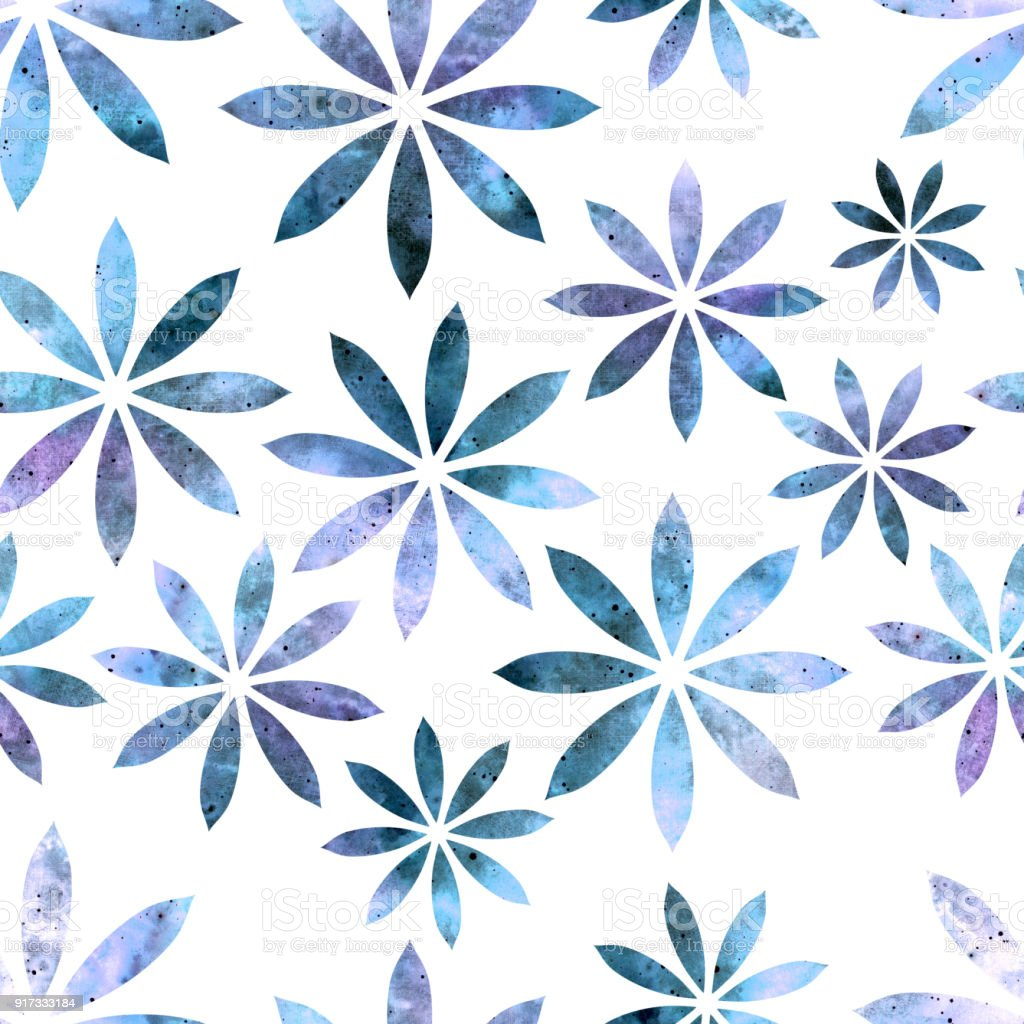 Seamless pattern of watercolor abstract blue flowers stock vector seamless pattern of watercolor abstract blue flowers royalty free seamless pattern of watercolor abstract blue izmirmasajfo