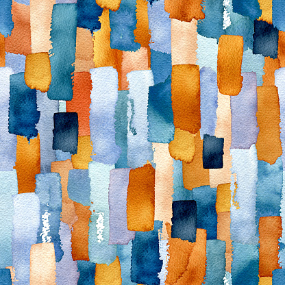 Seamless Pattern of Watercolor Lines