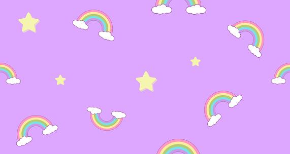 seamless pattern rainbow and clouds kawaii wallpaper background cute illustration id1220545086?k=6&m=1220545086&s=170667a&w=0&h=5RR0TVHeag7Ik0EqSQ2DJ49SDOvEbVhyepSyZkDrPuc=