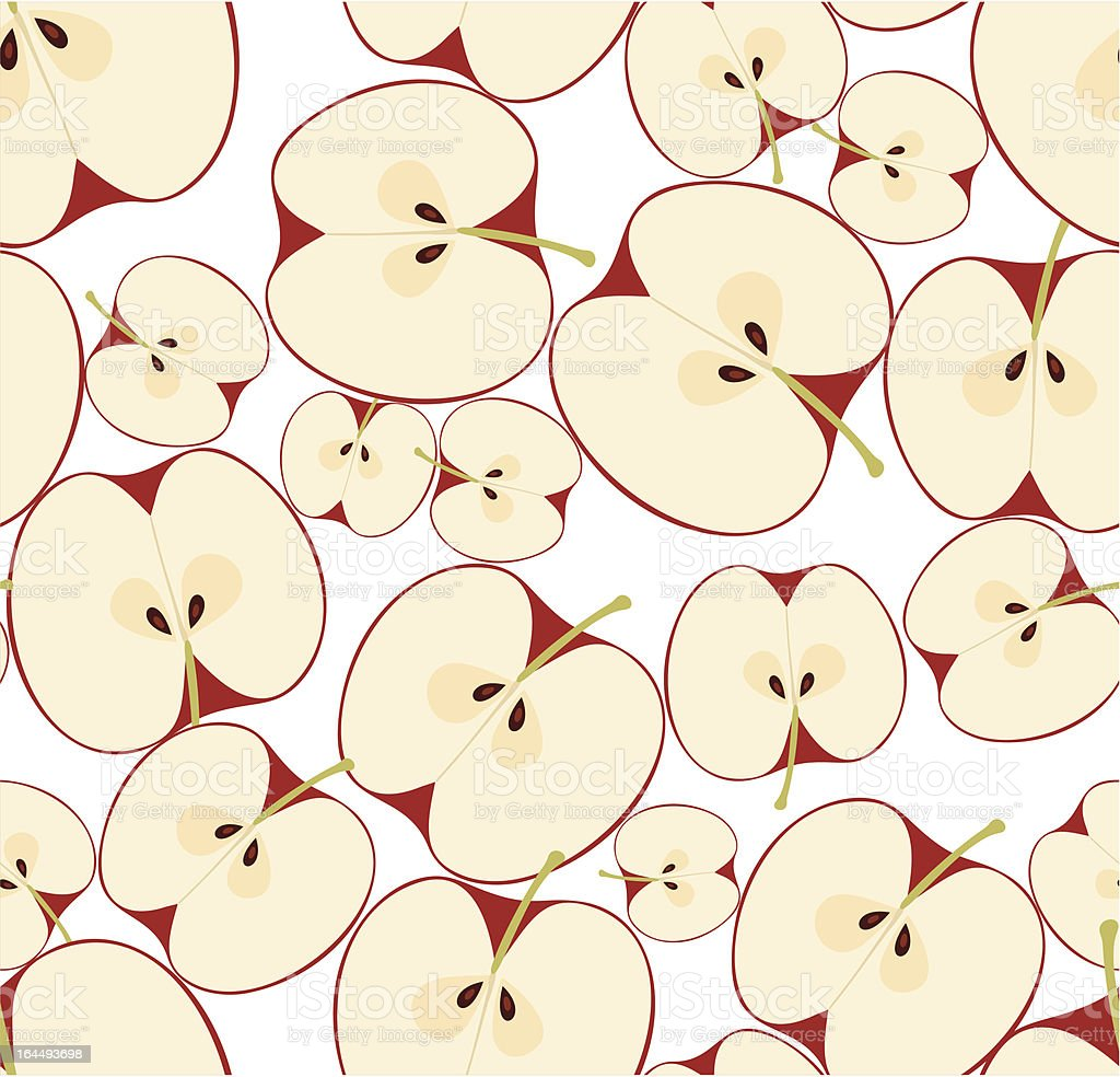 Seamless pattern with apples. Vector illustration. royalty-free stock vector art