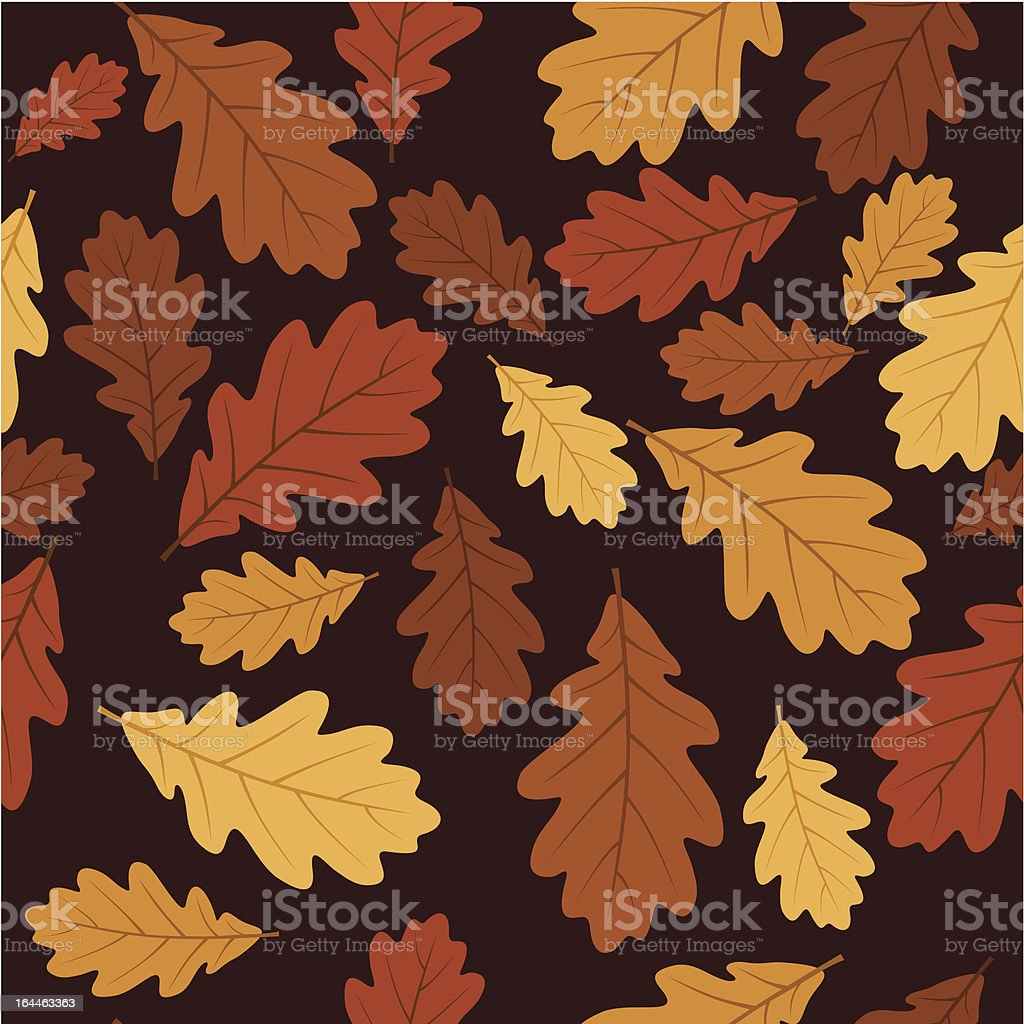Seamless pattern with autumn oak leaves. Vector EPS 8. royalty-free seamless pattern with autumn oak leaves vector eps 8 stock vector art & more images of abstract