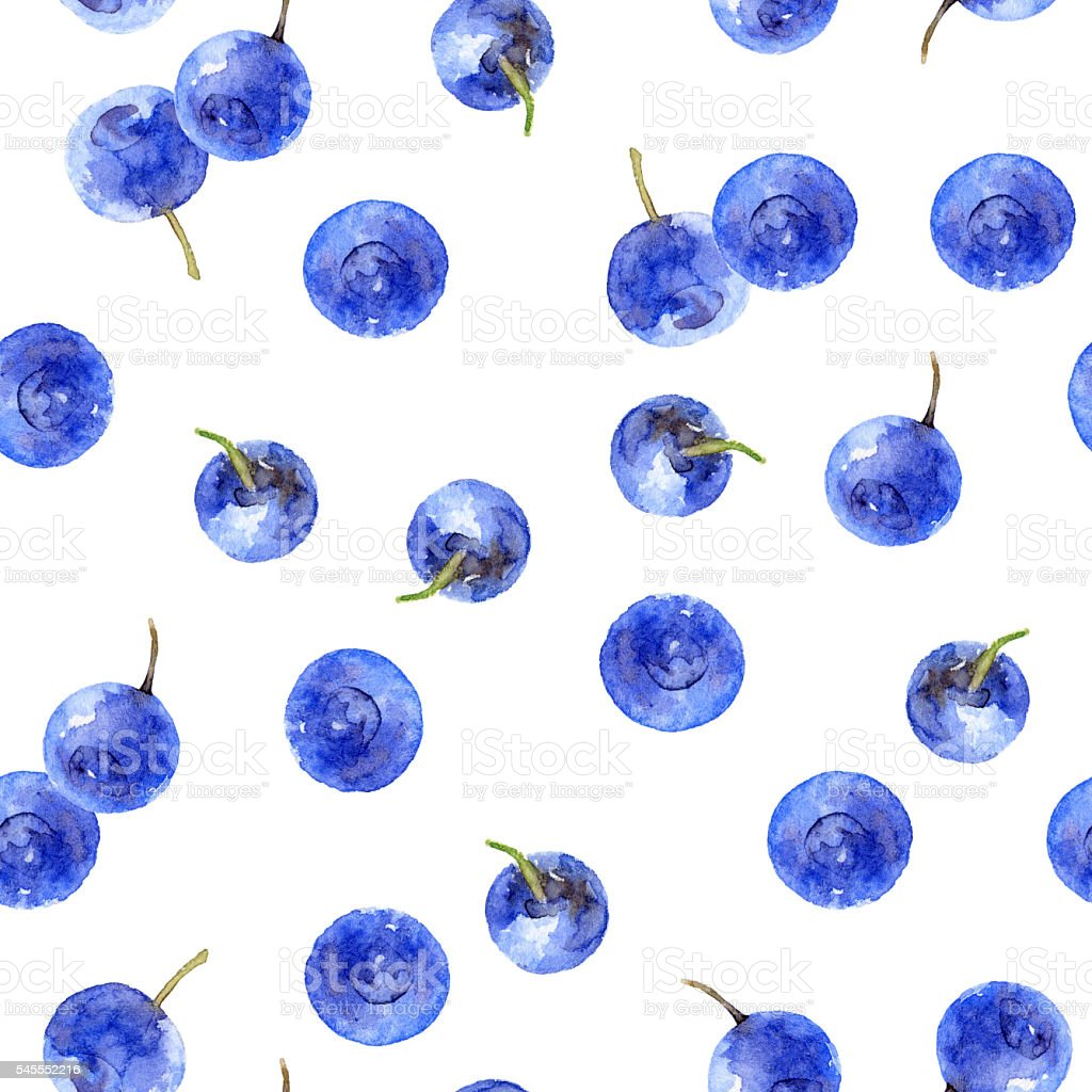 Seamless pattern with bilberry ベクターアートイラスト