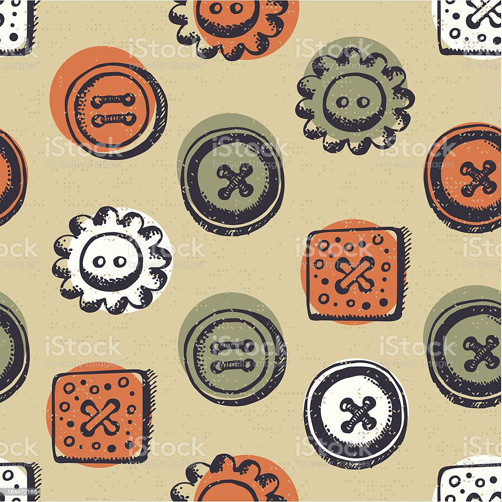 Seamless pattern with buttons royalty-free stock vector art