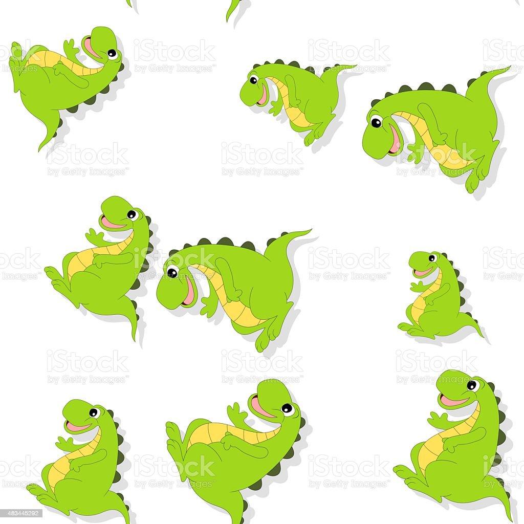 Ilustración de Patrón Sin Costuras De Dibujos Animados Dragon Sobre ...