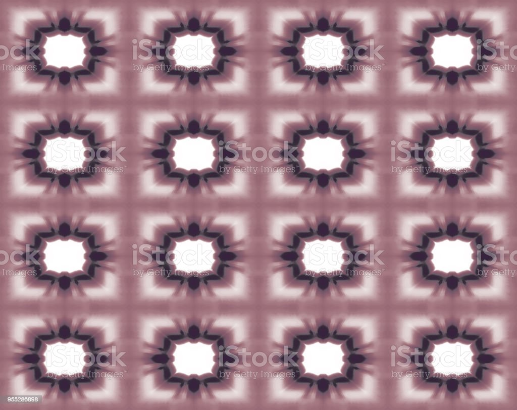 Seamless pattern with creative square shapes. Abstract kaleidoscope background in red, bordo, maroon tones. Checkered symmetric ornament. Template for fashion design, textile, wallpapers, wrapping paper, scrapbooking, web pages векторная иллюстрация