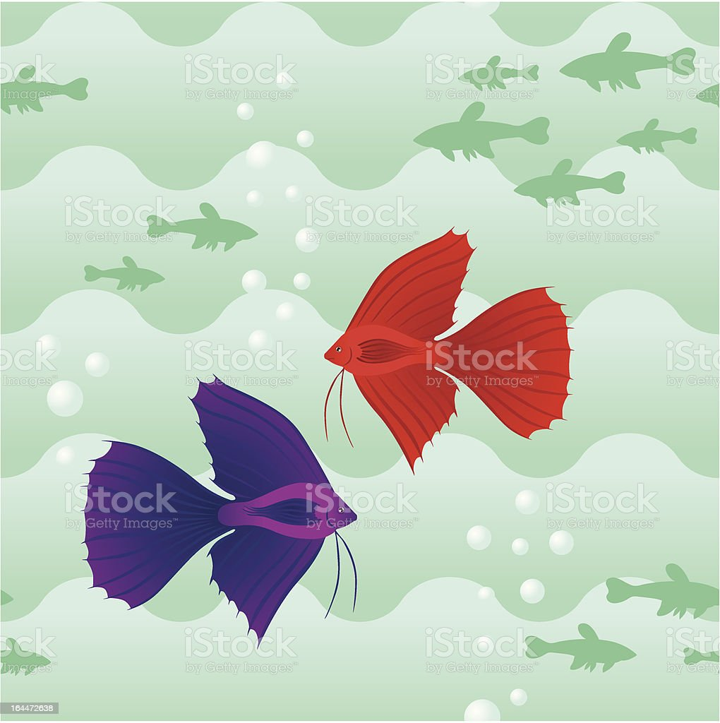 Seamless pattern with fish royalty-free stock vector art