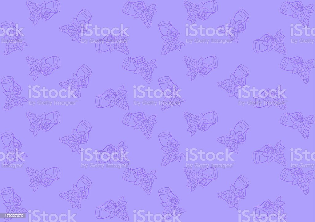 Seamless pattern with grapes royalty-free stock vector art