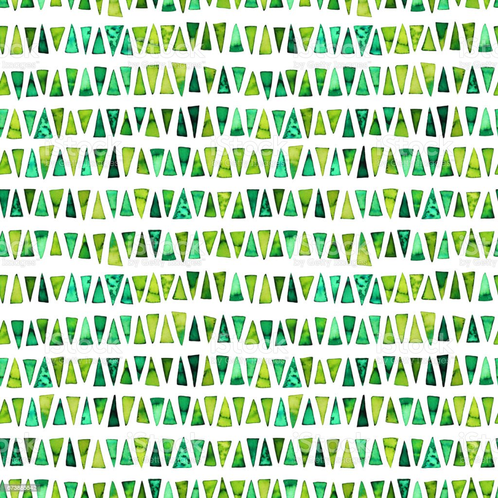 Seamless pattern with green triangles. vector art illustration