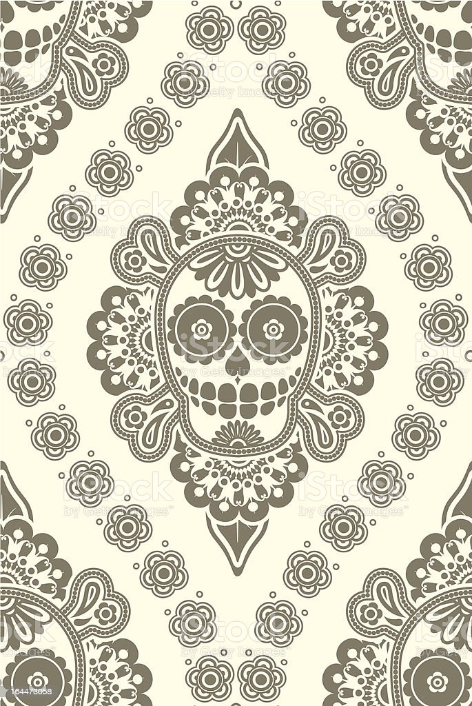 seamless pattern with skulls and bones royalty-free stock vector art