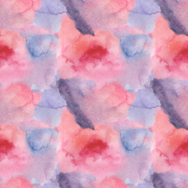 Seamless pattern with watercolor spots. Colored watercolor spots vector art illustration