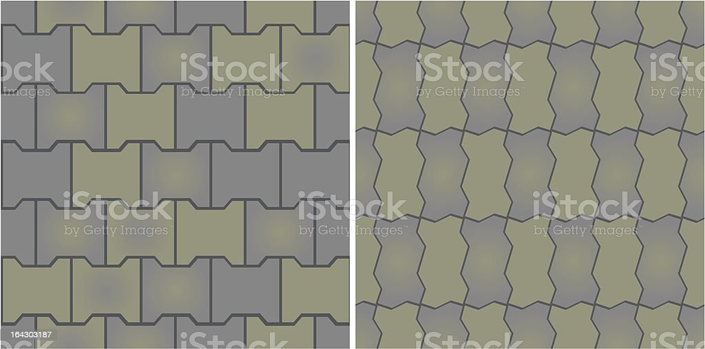 Seamless patterns of pavement. Vector illustration. royalty-free stock vector art