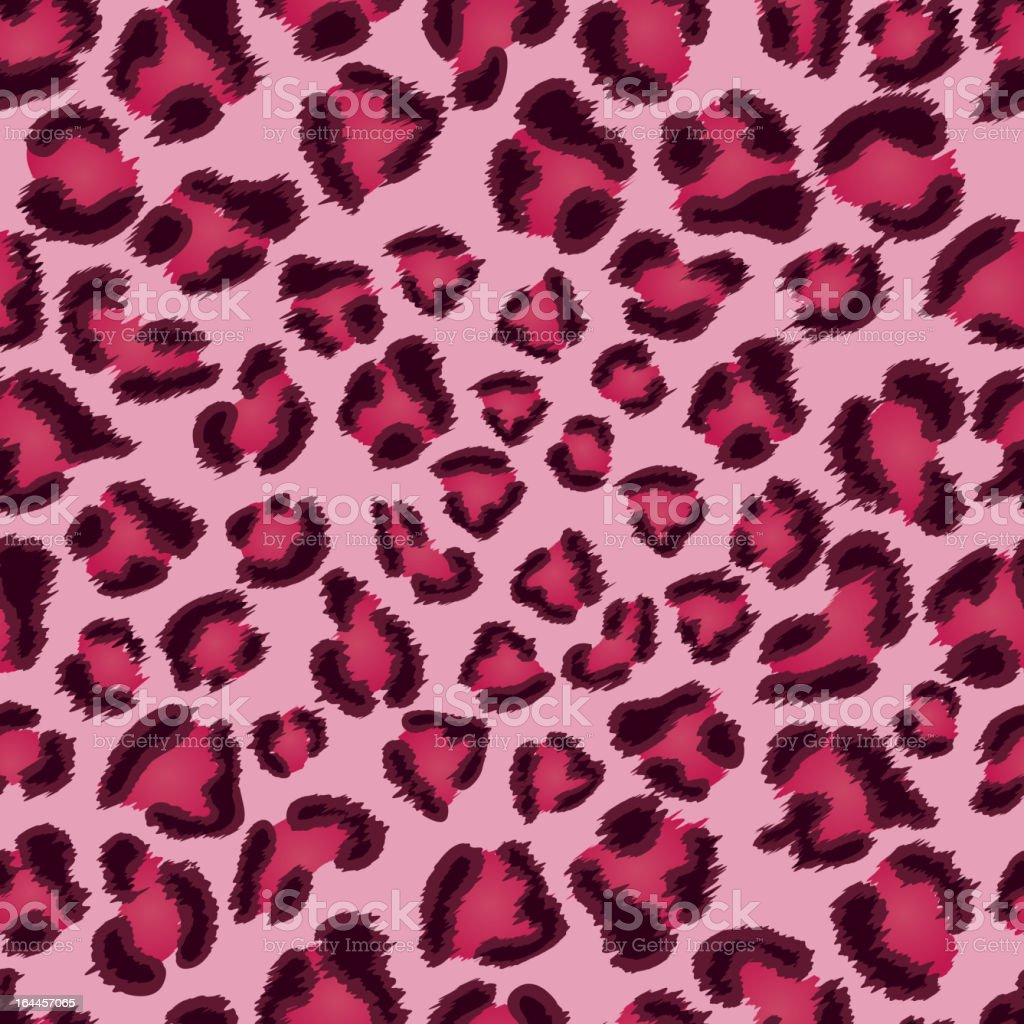 Seamless pink leopard texture pattern. vector art illustration
