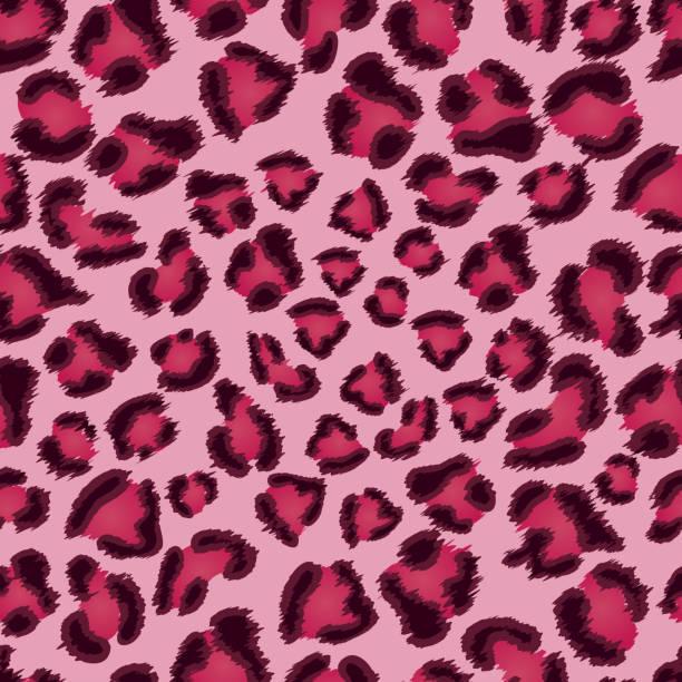 ilustraciones, imágenes clip art, dibujos animados e iconos de stock de excelente patrón de textura de leopardo rosa. - textura de leopardo
