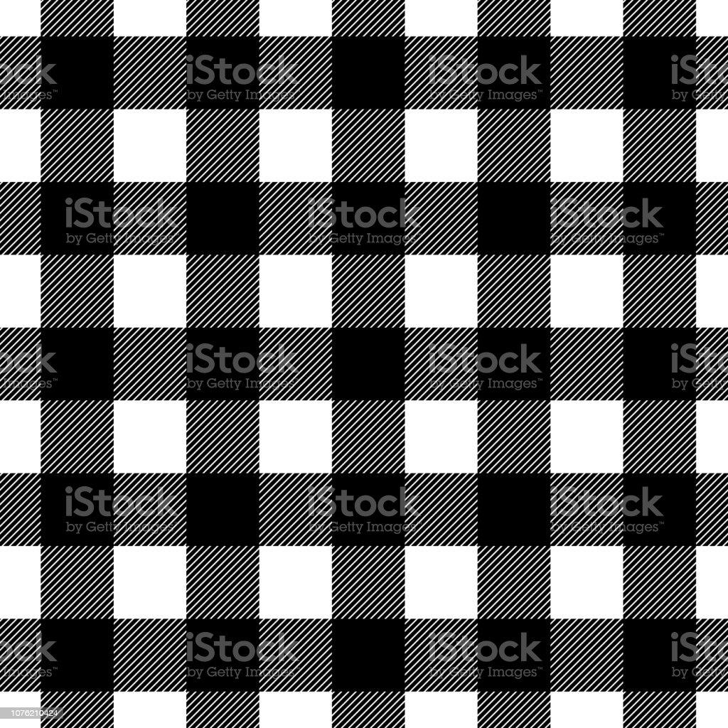 シームレスな格子縞黒と白のチェック柄壁紙ファブリック繊維包装を設計しますシンプル背景 イラストレーションのベクターアート素材や画像を多数ご用意 Istock