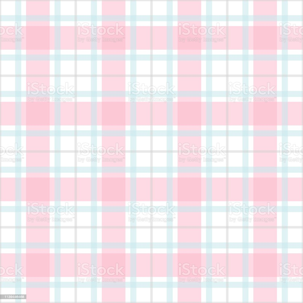 Seamless Plaid Check Pattern Design For Wallpaper Fabric