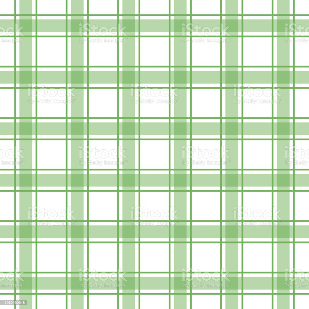 Seamless Plaid Check Pattern Green And White Design For Wallpaper Fabric Textile