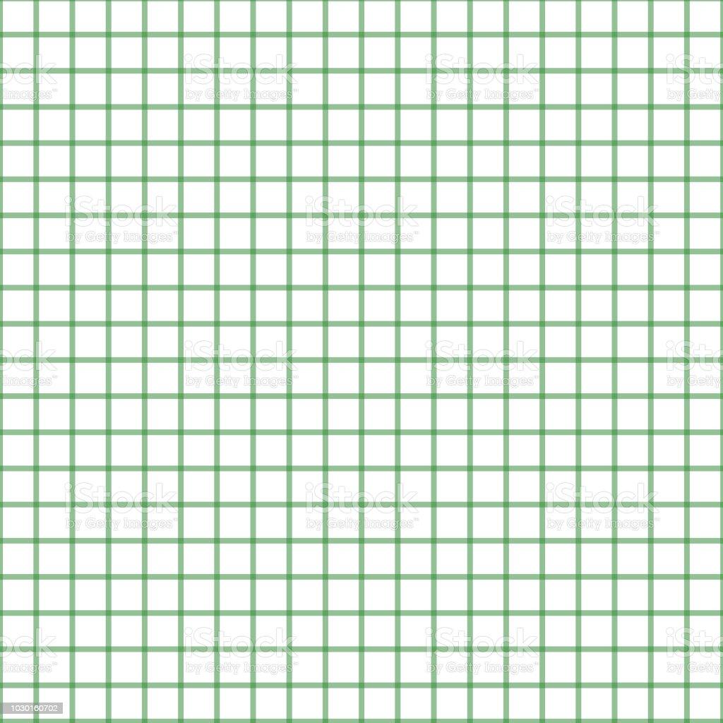 シームレスな格子縞チェック パターン緑と白壁紙ファブリック繊維紙の