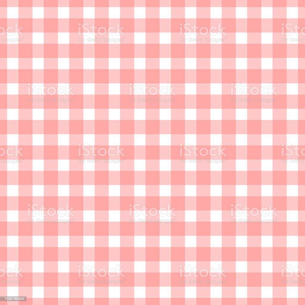 Seamless plaid, check pattern pink and white. Design for wallpaper, fabric, textile