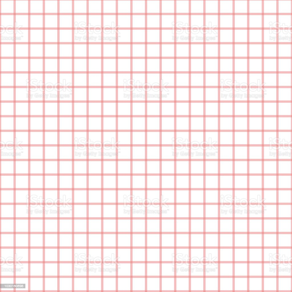 Seamless Plaid Check Pattern Pink And White Design For Wallpaper Fabric Textile