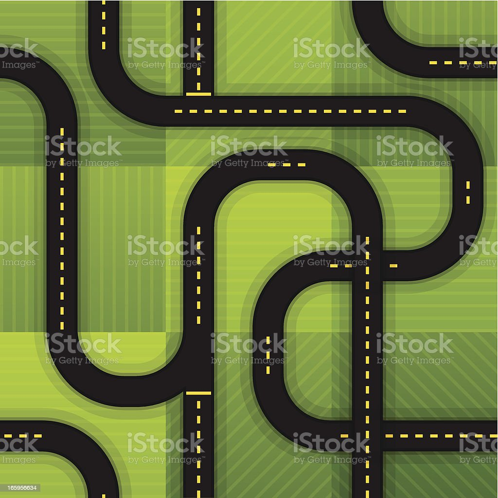 Seamless Roads royalty-free seamless roads stock vector art & more images of