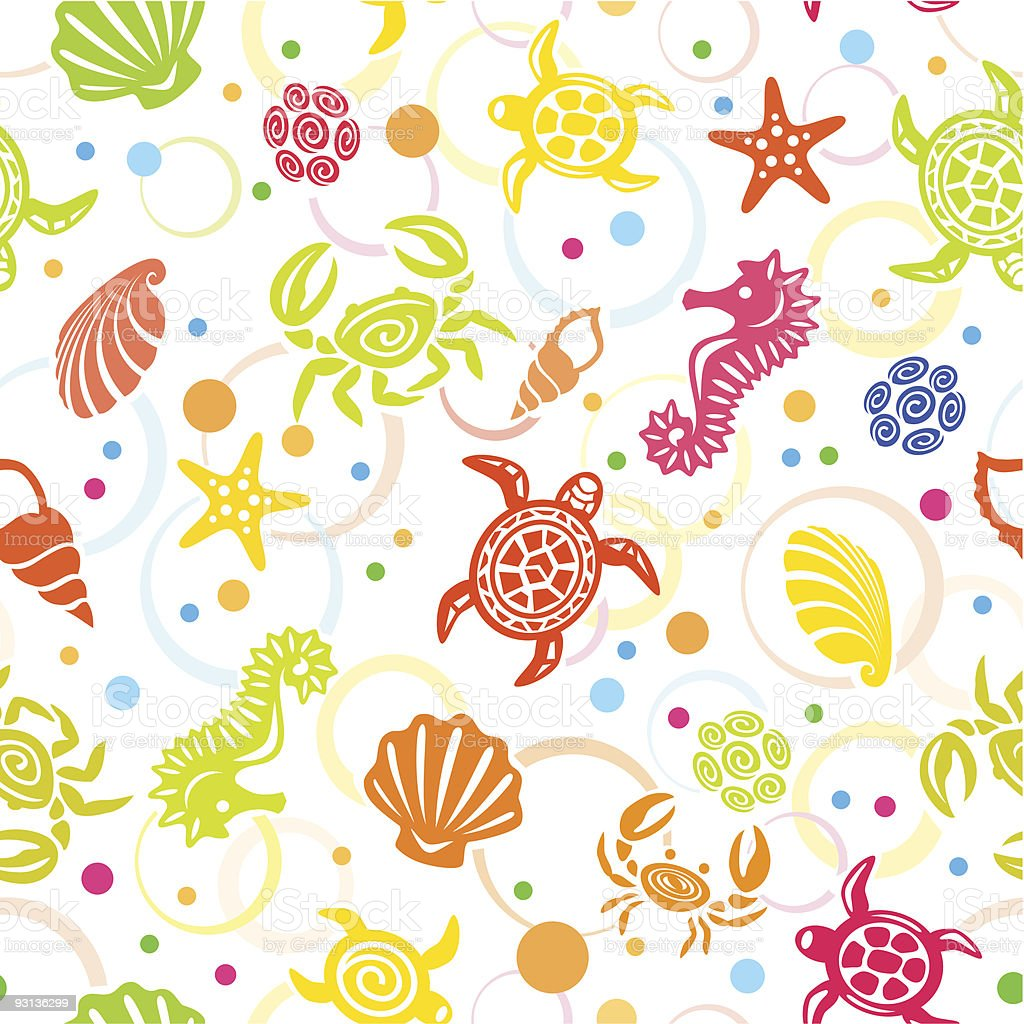 Seamless SeaLife  Pattern vector art illustration