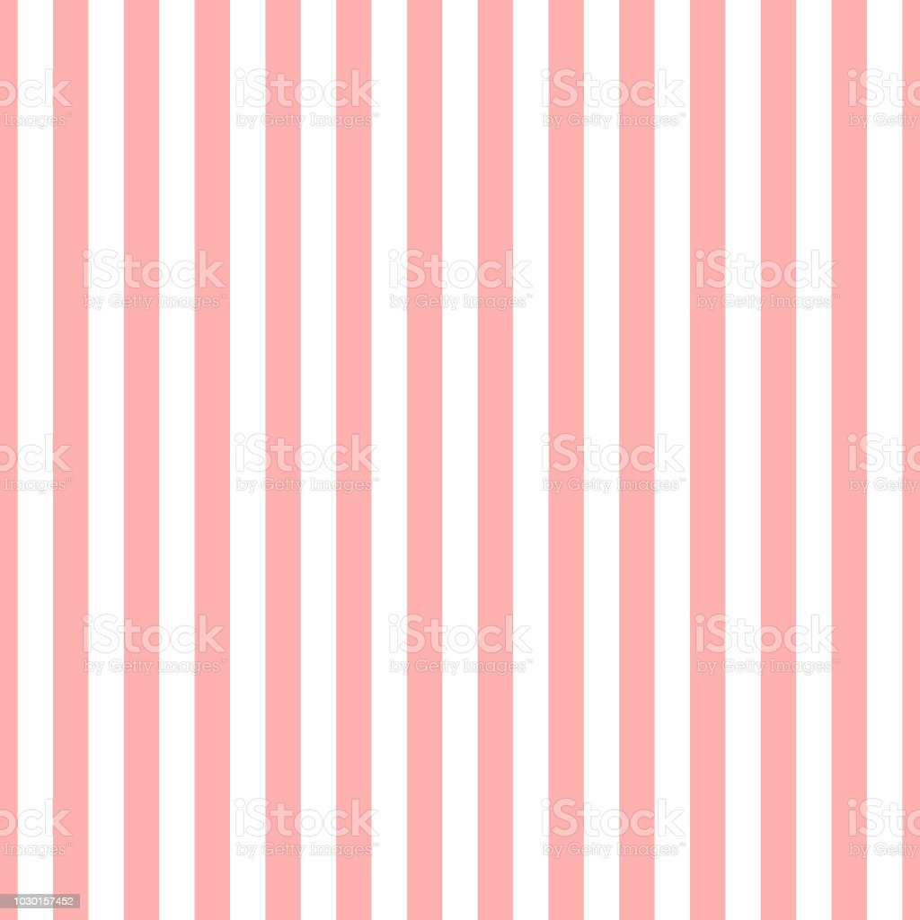Seamless Stripe Pattern Pink And White Design For Wallpaper Fabric Textile Simple