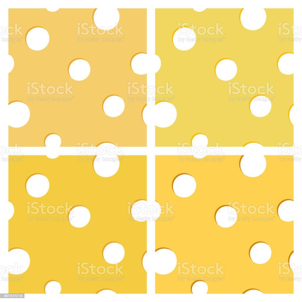 Seamless texture of cheese, vector illustration. vector art illustration