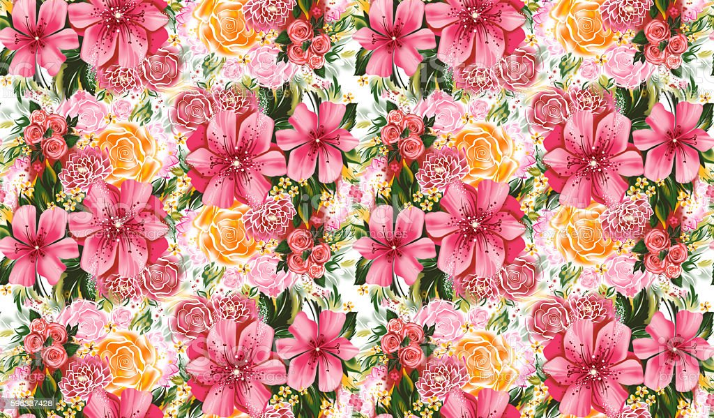 Seamless texture wiht flowers royalty-free seamless texture wiht flowers stock vector art & more images of backgrounds
