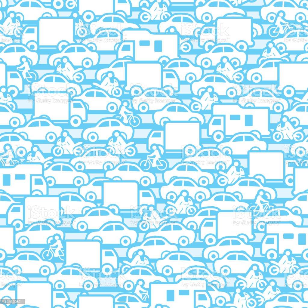 Seamless Traffic Background vector art illustration