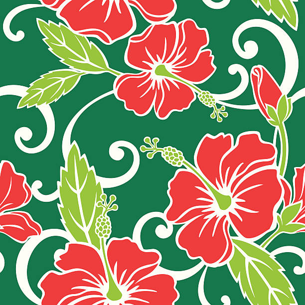 Seamless Tropical Holiday Pattern vector art illustration