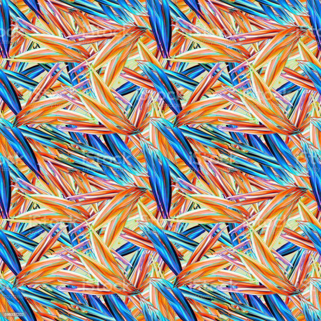 Seamless tropical pattern with strelitzia Lizenzfreies seamless tropical pattern with strelitzia stock vektor art und mehr bilder von abstrakt