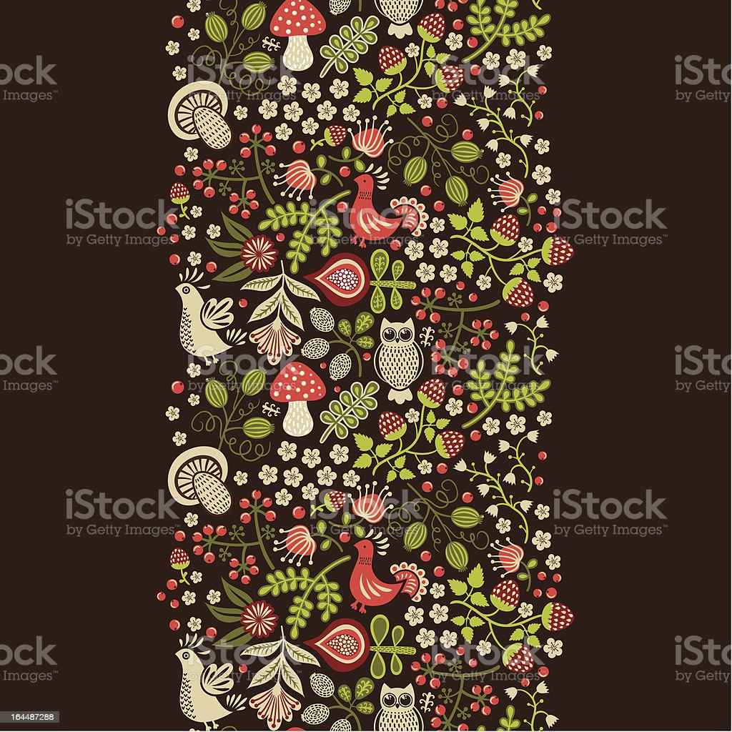 Seamless vertical floral ornament royalty-free seamless vertical floral ornament stock vector art & more images of abstract