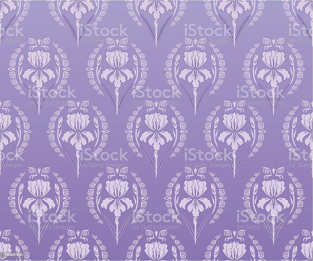 Seamless wallpaper iris background royalty-free stock vector art