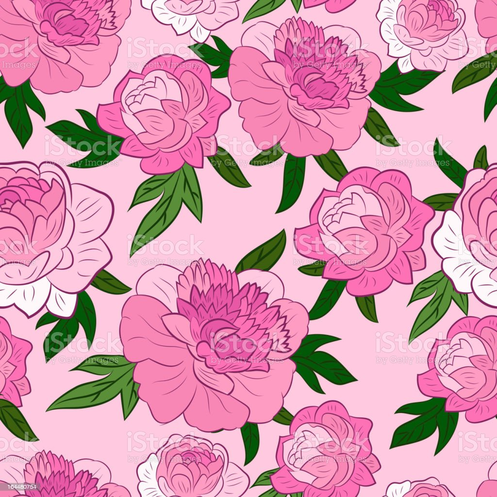 Seamless wallpaper pattern with of pink peony royalty-free seamless wallpaper pattern with of pink peony stock vector art & more images of abstract