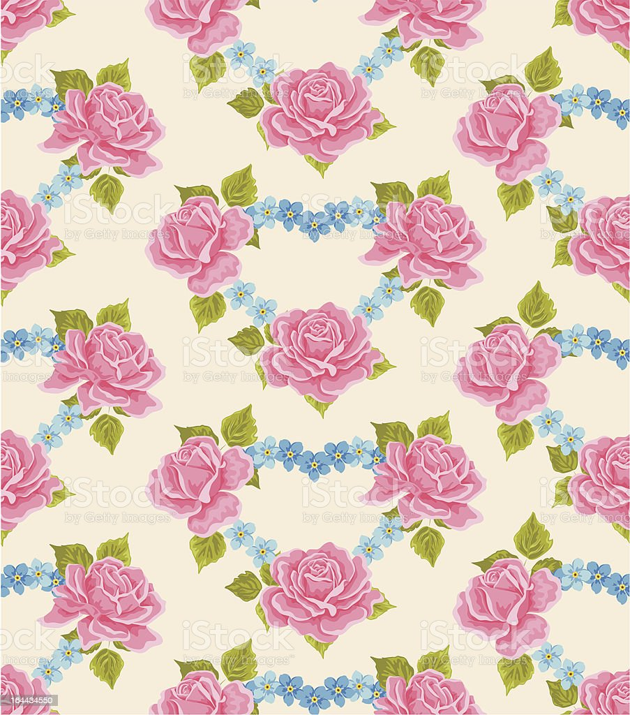 Seamless wallpaper pattern with roses royalty-free seamless wallpaper pattern with roses stock vector art & more images of backgrounds