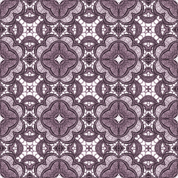 Seamlessly repeating lace pattern vector art illustration