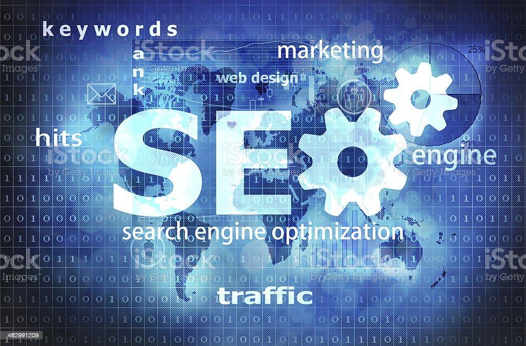 search engine vector art illustration