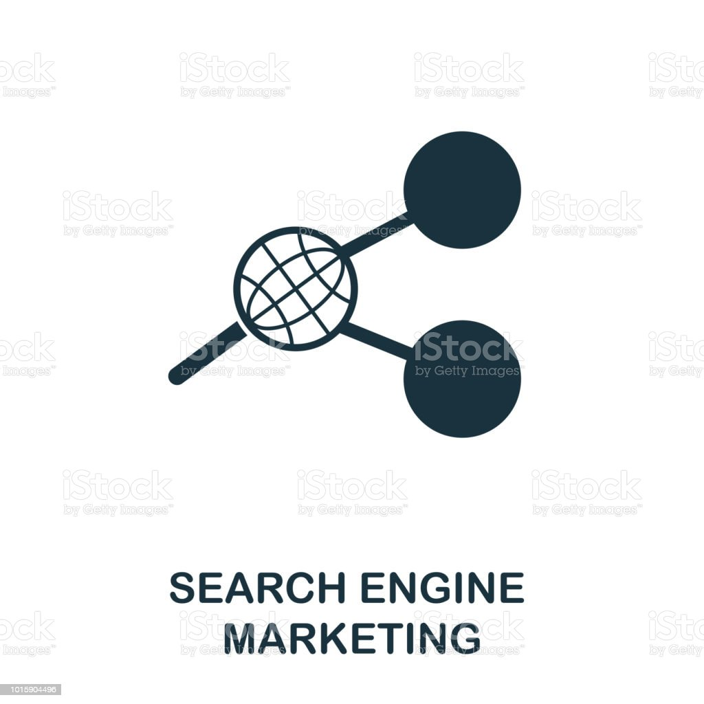 Search Engine Marketing Creative Icon Simple Element