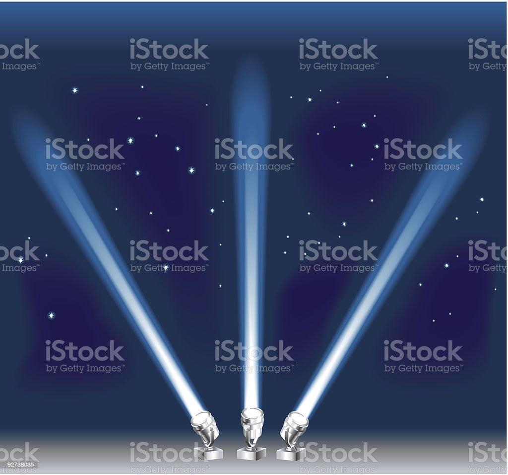 Scheinwerferlichtkegeln Lizenzfreies scheinwerferlichtkegeln stock vektor art und mehr bilder von bach