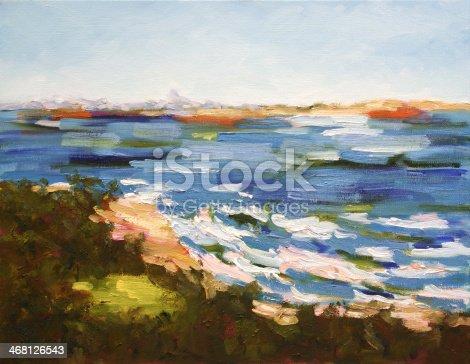 istock Seascape Oil Painting 468126543